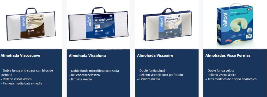 ALMOHADAS DE VISCO VELFONT